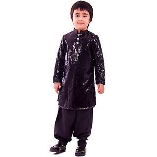 KIDOLOGY Boys Pathani Suit Set