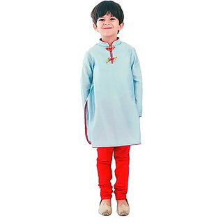 KIDOLOGY Boys Kurta and Pyjama Set