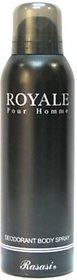 Rasasi Royal Pour Homme Deodorant Spray - For Men (200 Ml)