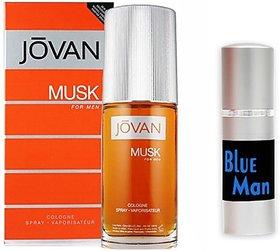 Jovan Musk Perfume And Blue Man Combo Set (Set Of 2)
