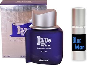 Rasasi Blue For Man Perfume And Blue Man Combo Set (Set Of 2)