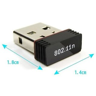 Mini Wi-Fi Receiver 2.4GHz, 802.11b/g/n USB 2.0 Wireless Wi-Fi Network Adapter