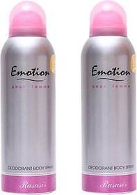 Rasasi 2 Emotion Women Deodorant Spray - For Women (400 Ml)