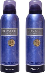 Rasasi 2 Royale Blue Men Deodorant Spray - For Men (400 Ml)