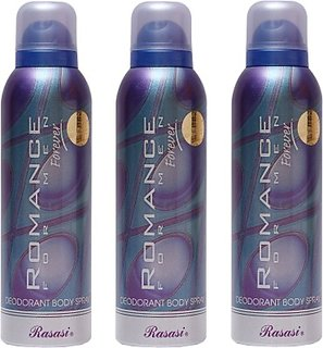 Rasasi 3 Romance Blue Men Deodorant Spray - For Men (600 Ml)