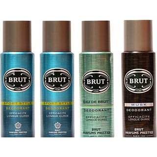 Brut Sports,Eau De Brut,Musk Combo Set (Set Of 4)