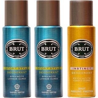 Brut Sports,Instinct Combo Set (Set Of 3)