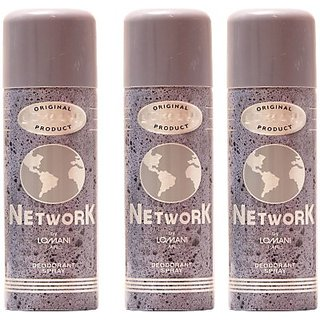 Lomani Network Deodorant Spray - For Men (600 Ml)