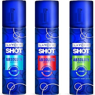 LayerR Shot Absolute Power, Game, Craze Combo Set (Set Of 3)
