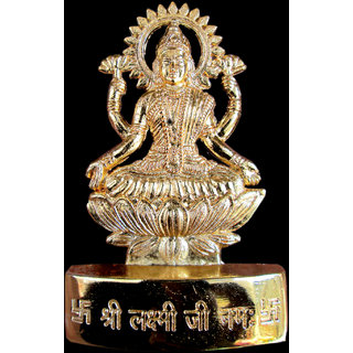 Gold Plated Laxmi Idol