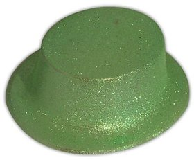 Round Glitter Hat-Green (Pack Of 5)