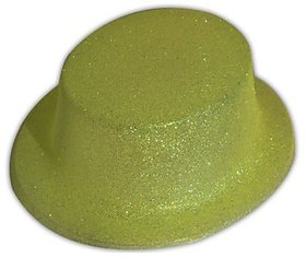Round Glitter Hat-Yellow (Pack Of 5)