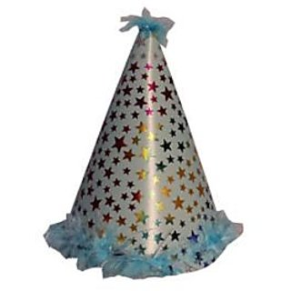 Star Feather Sponge Hat-Blue (Pack of 5)