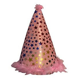 Star Feather Sponge Hat-Baby Pink (Pack of 5)