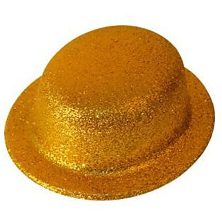 Party Hat Glitter-Golden (Pack of 5)