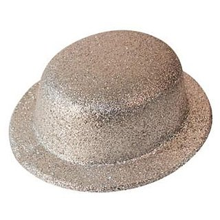 Party Hat Glitter-Silver (Pack of 5)