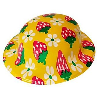 Plastic Party Hat Strawberry (Pack of 5)