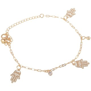 Golden Anklet for Women AKGD0010190