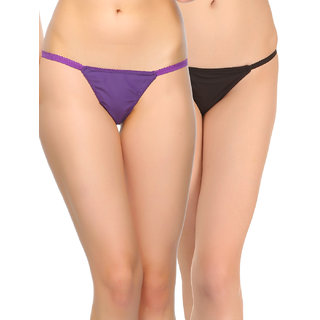 Clovia Pack Of 2 Panty-Combopn80