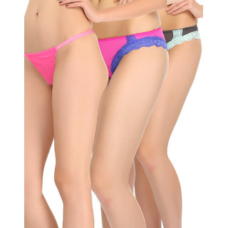 Clovia Pack Of 3 Panty-Combopn81