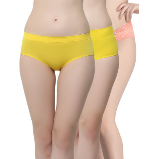 Clovia Pack Of 3 Panty-Combopn94