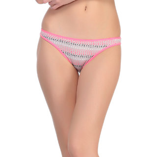 Clovia Cotton Bikini In Pink -Pn0308P14