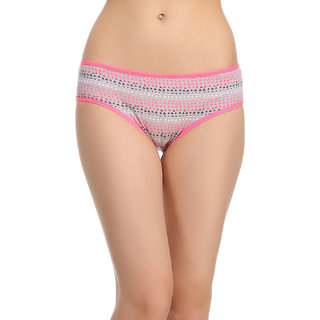 Clovia Cotton Bikini In Pink -Pn0439P14