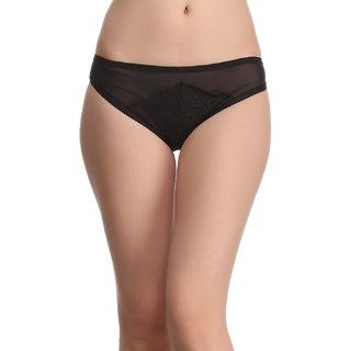 Clovia Sexy Lacy Brief In Black -Pn0509P13