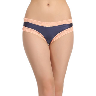 Clovia Side Laced Polyamide Brief In Dark Blue -Pn0524P08