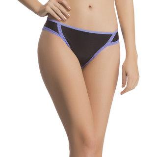 Clovia Polymide Spandex With Soft Lace Bikini Brief In Black -Pn0525P13