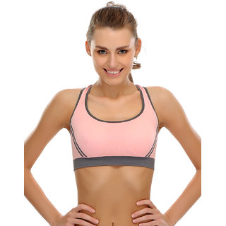 Clovia Clovia Seamless Padded Sports Bra With Cross Back Straps -Br0332P16