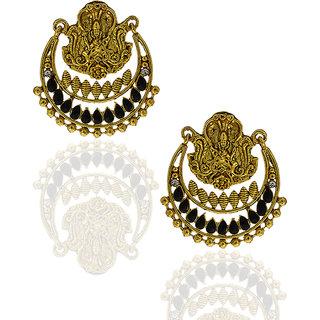 Anuradha Art Black Colored Earrings For Women