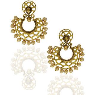 Anuradha Art Golden Colored Earrings For Women