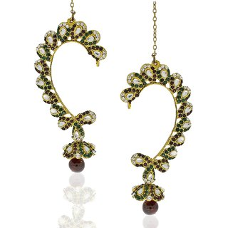 Anuradha Art Black Traditional Ear-Cuffs For Women