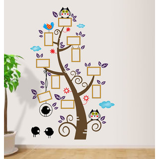 New Way Decals- Wall Sticker (9623) Photo Frame With Tree Design