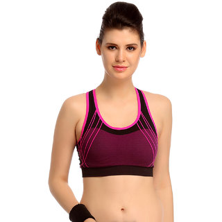 Clovia Comfy Padded Sports Bra In Pink -Br0504P22