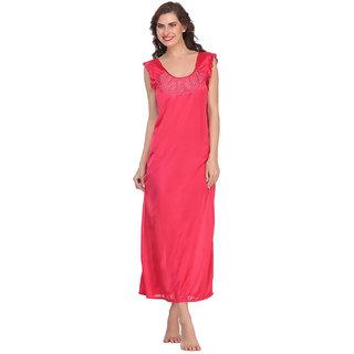 4f6231148f Buy Clovia Satin Nightie In Hot Pink -Nsm282P22 Online - Get 60% Off