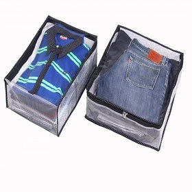 Srajanaa Shirt And Trouser Cover Combo Of 2 With Zip Cl