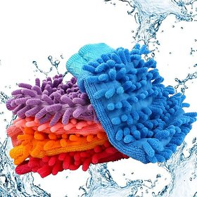 Multi Purpose Micro Fiber Washing Gloves (Set of 2)
