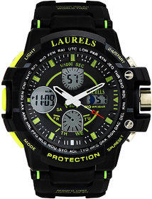 Laurels Digi Digital Black Dial Mens Watch - Lo-Digi-103