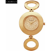Laurels Aura 1 Analog Gold Dial Womens Watch - LL-Aura-101