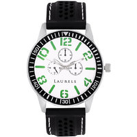 Laurels Excess Analog White Dial Mens Watch - Lo-Excess-0102Gr