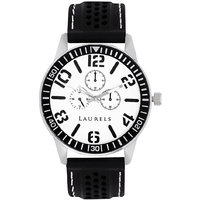 Laurels Excess Analog White Dial Mens Watch - Lo-Excess-0102