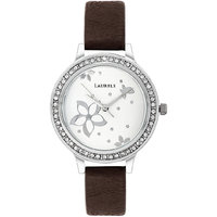 Laurels Floral Analog White Dial Womens Watch - LL-Fl-105