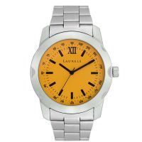 Laurels Design Analog Yellow Dial Mens Watch - Lo-Dsgn-0807