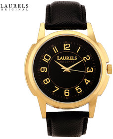 Laurels Exquisite Analog Black Dial Mens Watch - Lo-Ex-102