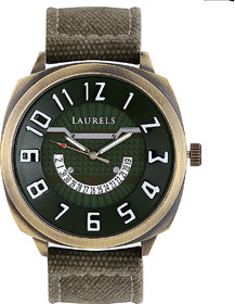 Laurels Hugo Analog Green Dial Mens Watch - Lo-Hg-104