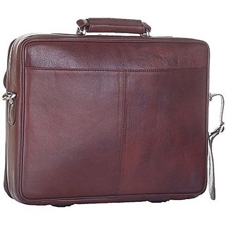 Leatherman Leather Brown Laptop Bag