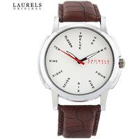 Laurels Maestro 2 Analog Silver Matt Dial Mens Watch - Lo-Mas-202