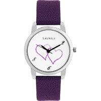Laurels February Analog White Dial Womens Watch - Lo-Feb-102